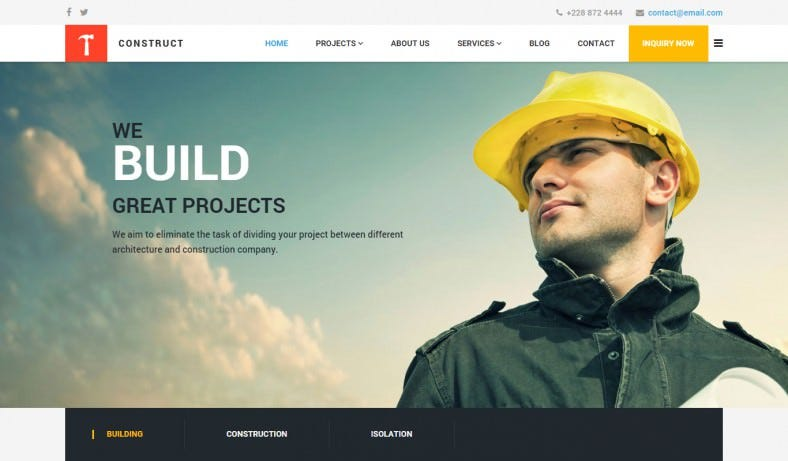 Modern Building and Construction Joomla Template