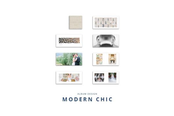 modern chic wedding album