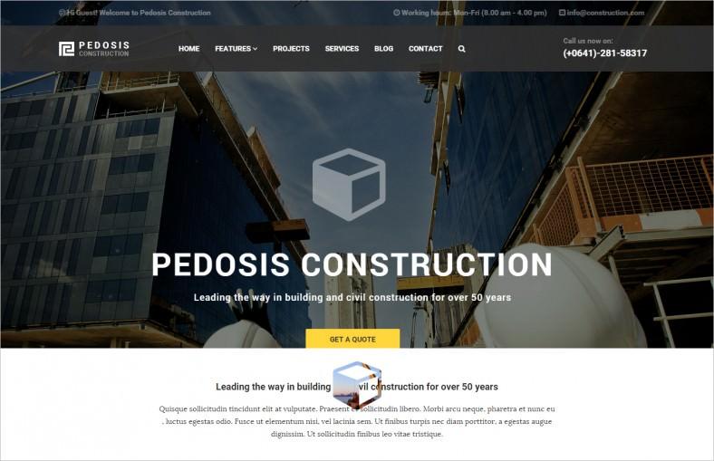 Modern Design Building & Construction Drupal Theme