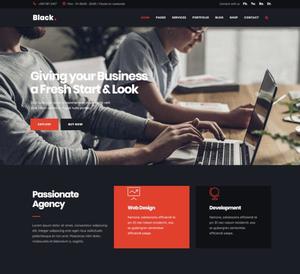 modern digital agency business joomla theme