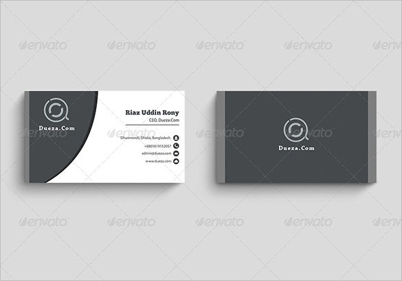Visiting Card Template Free Printable Word PDF PSD EPS - Free template business cards to print