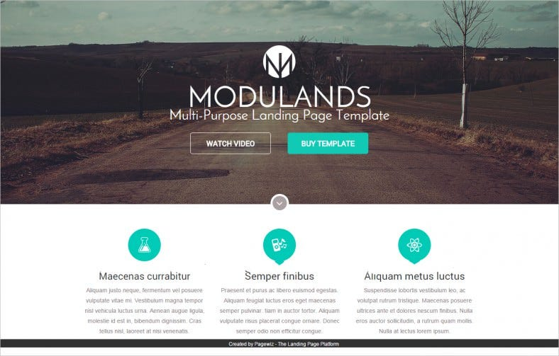 modulands multi purpose pagewiz landing page template 788x503