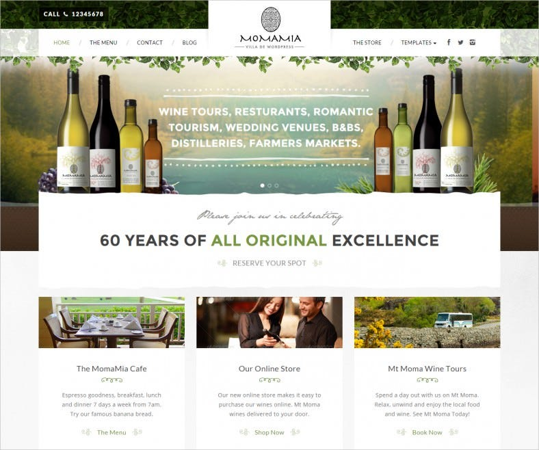 Winery Wordpress Templates Amp Themes Free Amp Premium