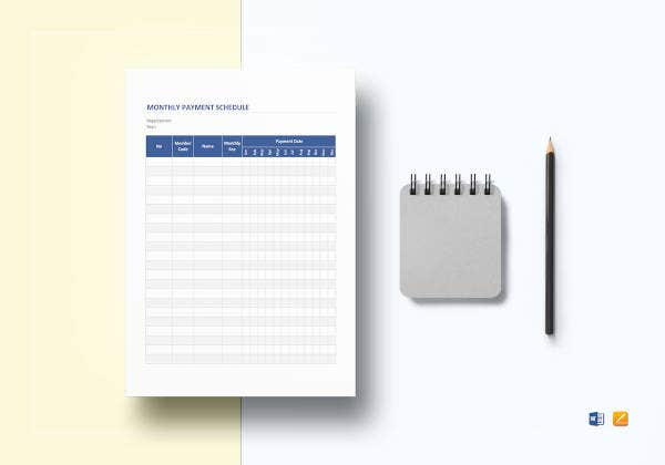 monthly-payment-schedule-template