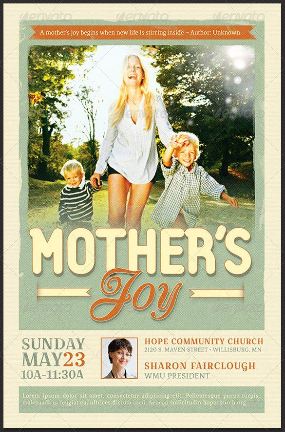 mother's joy flyer template