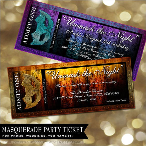 Movie Prom Ticket Template  Prom Tickets Design