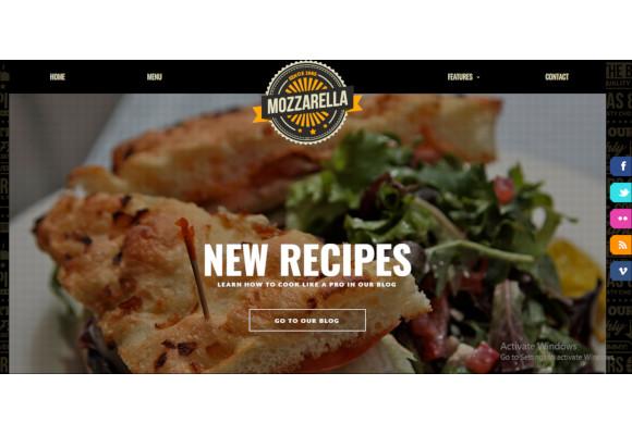 mozzarella php html cafe bar template1