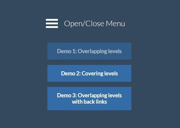 multi level push menu