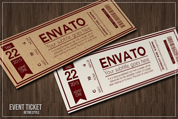 Ticket Template 91 Free Word Excel PDF PSD EPS Formats – Invitation Ticket