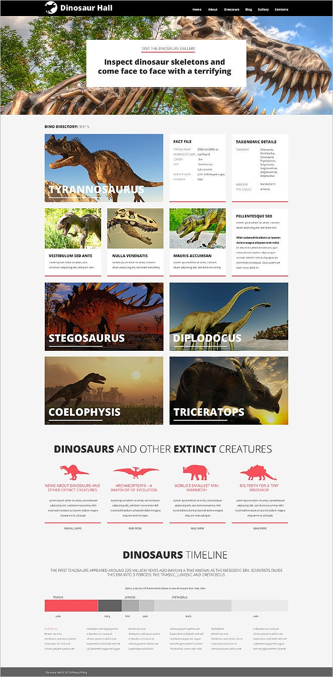 museum responsive wordpress theme 2