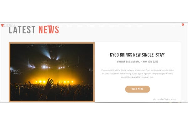 music festival band joomla template