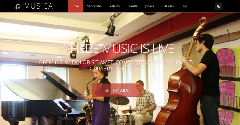 musica musical joomla premium template 788x412
