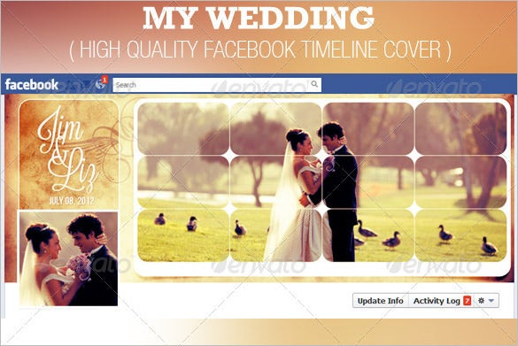 my wedding facebook timeline cover template photoshop 2