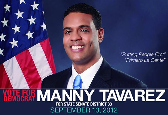 nyc campaign palm card for manny tavarez