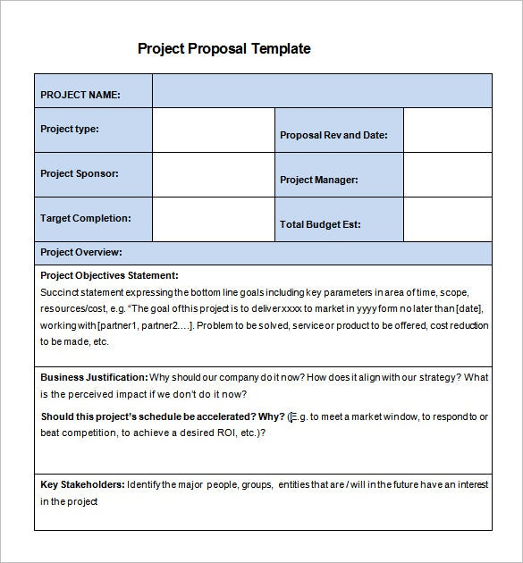 word project proposal template