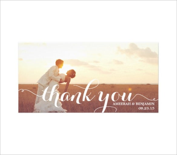 nice couple thankful psd photo card template