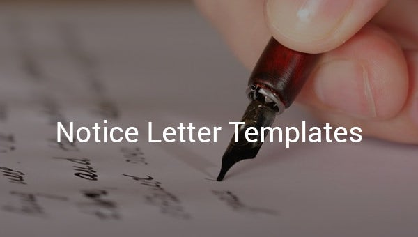 notice letter templates