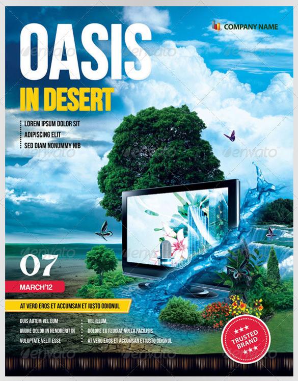 oasis in desert advertising flyer