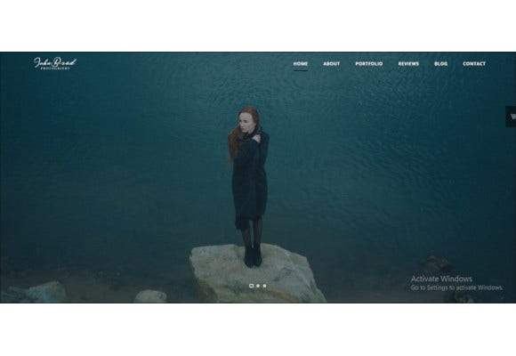 onepage photography bootstrap template