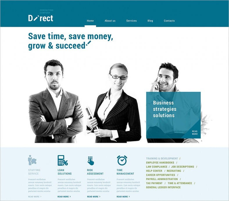 online business agent wordpress theme 788x692