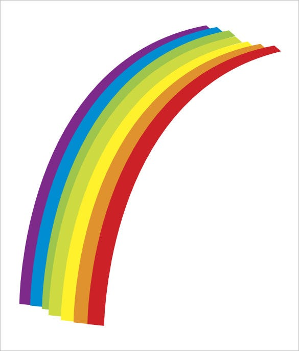 picture relating to Free Printable Rainbow named 8+ Rainbow Templates Totally free PDF Files Down load Absolutely free