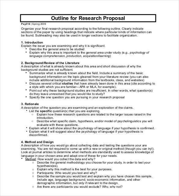 outline for research project proposal pdf download