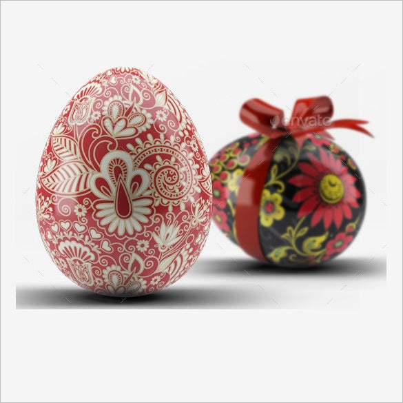 psd easter eggs mock up