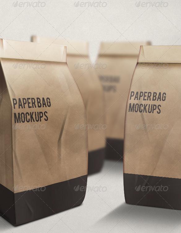 psd photoshop paper bag mockup