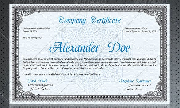 Professional certificate template 22 free word format download psd professional certificate photoshop 5 yadclub Image collections