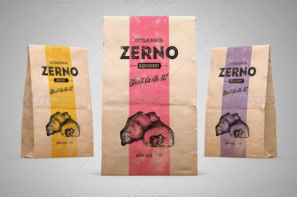 paper bag mock up psd design