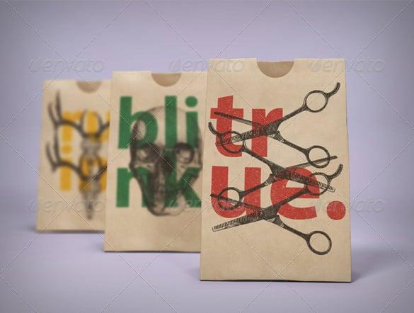 paper bag templat mockup pack 8