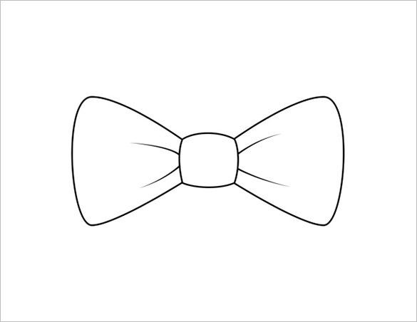 Printable Bow Tie Templates  Free Word Pdf Format Download