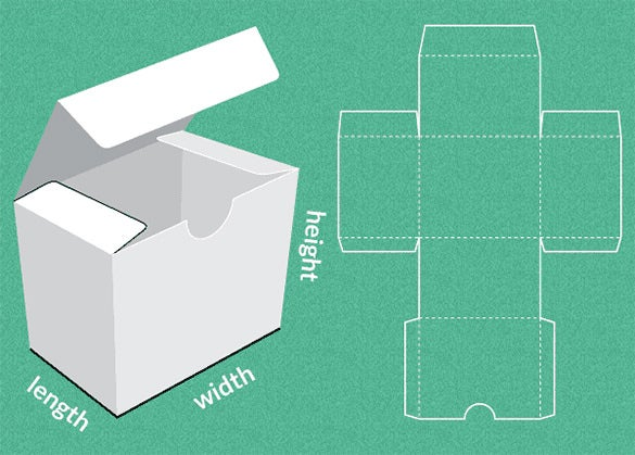 the paper box template maker comes with a paper pattern and folder instructions that help the user to easily fold and make a paper box