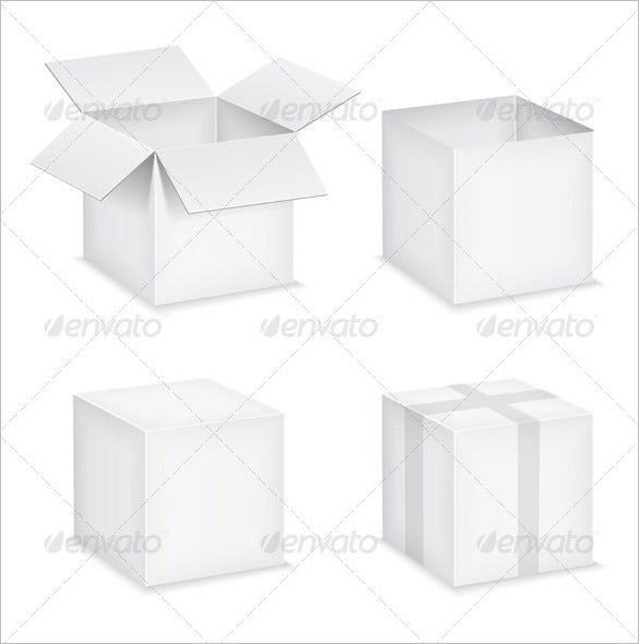 paper boxes vector eps 5