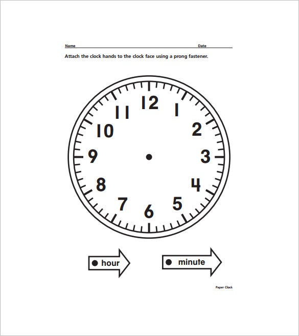 Как сделать стрелки макет часов из картона