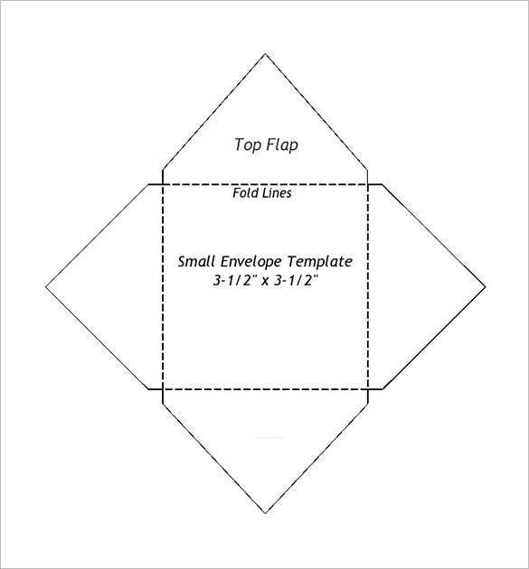 graphic regarding Gold Coin Template Printable called Minor Envelope Templates 9+ No cost Printable Term, PDF, PSD
