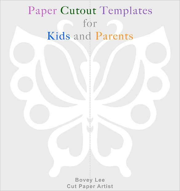 paper cutout butterfly template for kids
