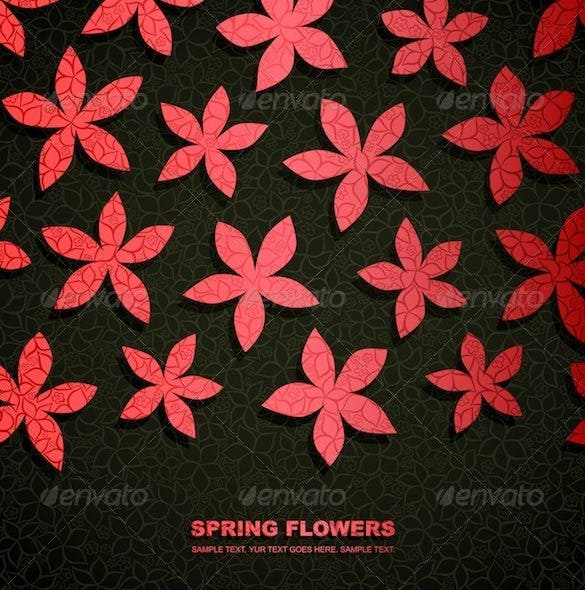 paper flower template psd design 4