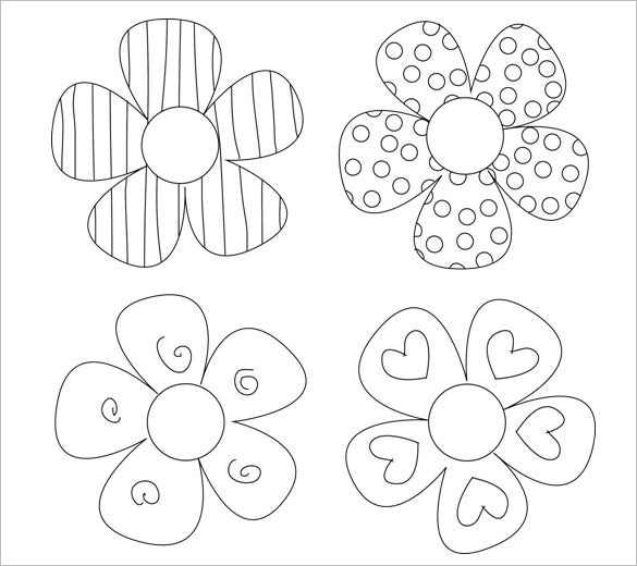 14 paper flower templates pdf doc psd vector eps for Free printable paper flower templates