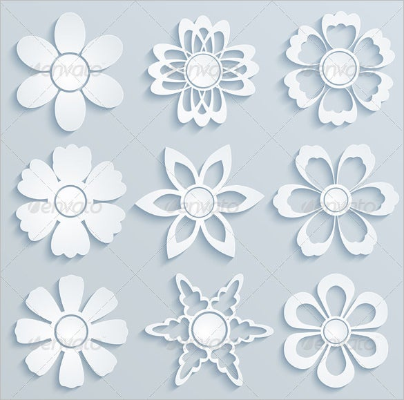paper cut out templates flowers 14 paper flower templates pdf doc psd vector eps