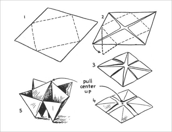 paper folding snack bowl template free