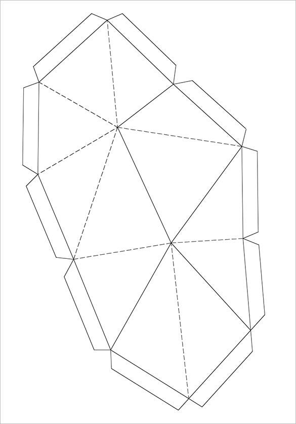 paper folding template model in rhino