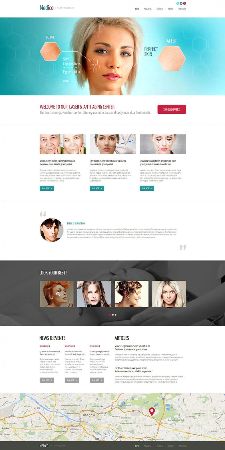 Parallax Effect Website Template for Plastic Surgery