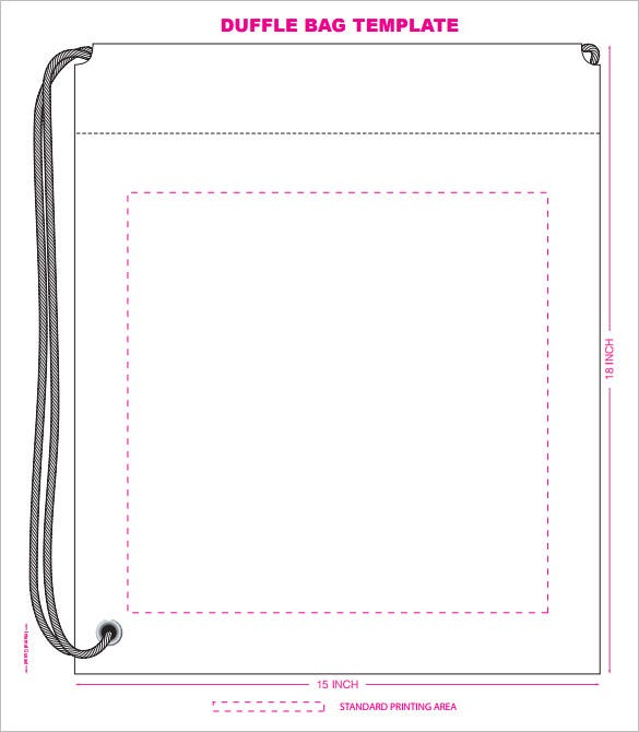 party duffle polythene bag template