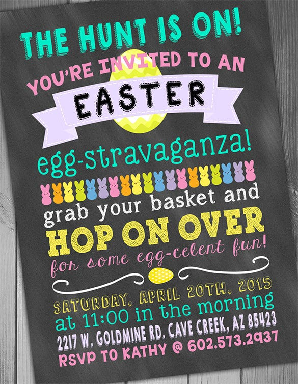 party invitation easter card template 15