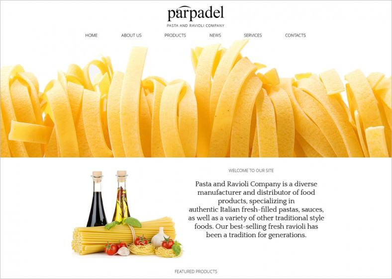 pasta paradise joomla template 788x560