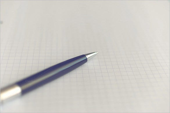 pen on writing graph paper template for 8