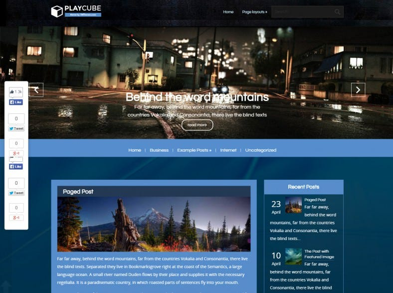 Perfect Free WordPress Template for Technology