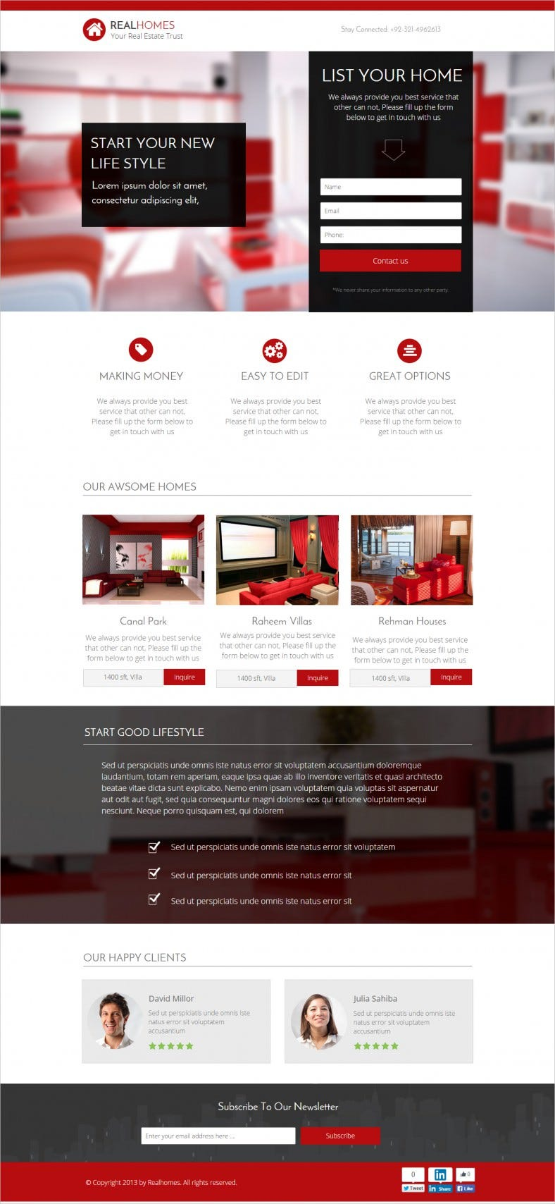 Perfect Landing Page Template for Home Mortgage