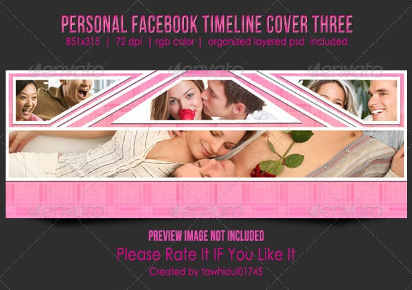 personal fb timeline template cover psd design 2